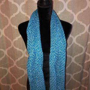 Blue and white Scarves